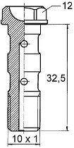 B&H Hohlschr. lang M10x1,25 Alu, 32,5mm