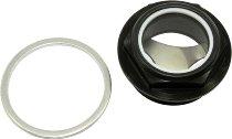 Ducati Gauge glass oil control black - 500, 600 Pantah, 750 Paso, F1, 750 SS bevel drive, MHR, S2...