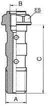 B&H Hohlschr.für Entlüft.lang 10x1 Ergal, blau