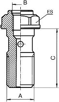 B&H Hohlschr.für Entlüft.kurz 10x1,25 Ergal, blau