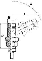 B&H Drehanschl.M 0° Nickel M10x1,25