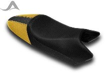 Luimoto Seat cover, black/gold - Ducati 400 / 600 / 750 / 800 / 900 / 1000 Monster