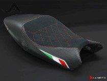 Luimoto Sitzbankbezug `Diamond Edition`, schwarz/italy - Ducati 696 / 796 / 1100 Monster / S / SP