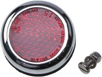 Moto Guzzi Reflector with chrome ring, 50mm, round, red - V7 850 GT