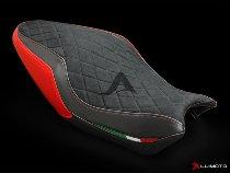 Luimoto Sitzbankbezug `Diamond Edition`, schwarz/rot/italy - Ducati 821 / 1200 Monster / S / R