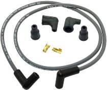 Dyna 1 Ignition-cable-kit 90° graphite 8mm, grey