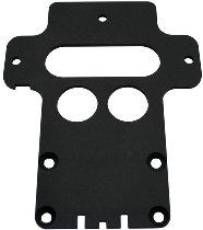 Battery base plate, aluminium, black 5mm
