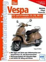 Book MBV repair manual Vespa GTS 125, 250, 300