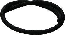 Fuel hose 10,0x15,0mm, black, textile, sold by meter