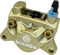 Brembo pinza de freno P32 F trasera, simétri, dorada - Ducati 400-900 SS, Monster, 851, 888, S4, 907