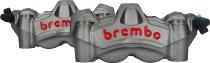 Brembo kit d`étrier à 4 pistons Radial Mono. Fonte 100mm M50, argent