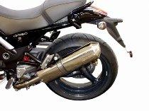 Agostini Silencer inox, oval with homologation - Moto Guzzi 850, 1100, 1200 8V Griso -EURO4