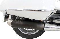 Agostini Silencer kit, black without homologation - Moto Guzzi California 1400 Touring, Custom...