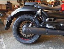 Agostini Silencer kit black, without homologation - Moto Guzzi 1400 Audace
