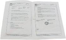 Agostini Footrest sytem certificate