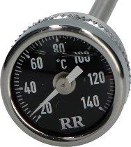 RR Oil thermometer black M20x1,5x152 mm - Moto Guzzi big models, Stelvio, California 1400, Suzuki