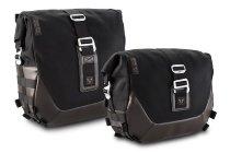 SW Motech Legend Gear Saddlebag set LS1 / LS2 (incl. SLS saddlebag holder), brown / black