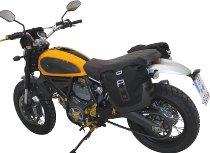SW Motech Legend Gear Side bag set, black / brown - Ducati 800 Scrambler