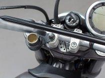 SW Motech Cigarette lighter mounting plate, M8, black