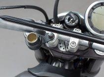 SW Motech Cigarette lighter mounting plate, M10, black