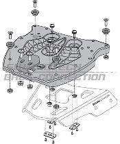 SW Motech Adapterplatte für ALU-RACK Gepäckträger