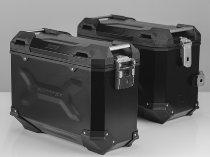 SW Motech TRAX ADV aluminum case complete system, black, 45/37 L - Honda XRV 750 Africa Twin