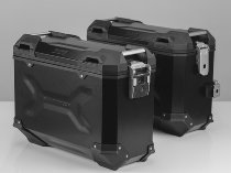 SW Motech TRAX ADV aluminum case complete system, black, 37 L - Honda XL 700 V Transalp