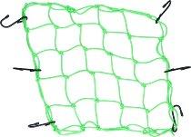 Luggage net 6 hooks, neon green, 40 X 40 cm