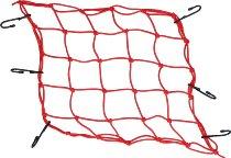 Luggage net 6 hooks, red, 40 X 40 cm