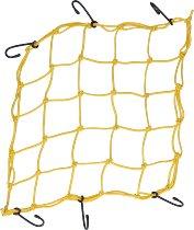 Luggage net 6 hooks, neon yellow, 40 X 40 cm