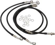 Spiegler Brake hose kit Moto Guzzi LeMans 4, 4 pieces, black/silver