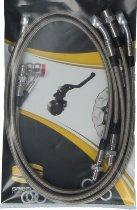Spiegler Brake hose kit, 4 parts w/o shrink hose, silver - Moto Guzzi 1000 SP