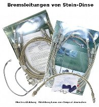 Spiegler Brake hose kit 4 parts w/o shrink hose, silver - Moto Guzzi 1000 SP 2