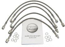 Spiegler Brake hose kit; 5 parts, w/o shrink hose, silver - Moto Guzzi 850 T3