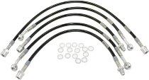 Spiegler Brake hose kit 5 pieces, black/silver - Moto Guzzi 850 T3