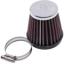 Filtre à air K&N rond pour carburateur Dellorto VHBT