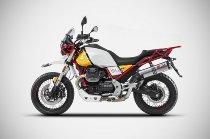 Zard Auspuff Slip-on Edelstahl, EG-ABE, Moto Guzzi V85 TT