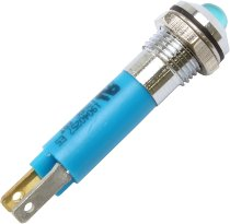 Control lamp LED blue 12V external reflector