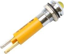 Control lamp LED yellow 12V external reflector