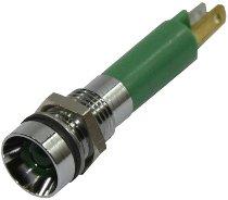 Control lamp, LED green, 12V internal reflector