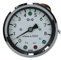 MMB DZM elektr. 80mm 1:1 LED weiß/schw -8.000U/m