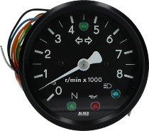 MMB DZM elektr. 80mm 1:1 LED schw/weiß -8.000U/m