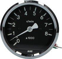 MMB DZM elektr. 80mm 1:1 schwarz/weiss -8.000U/m