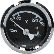 MMB Ölthermometer 48mm chrom/chrom/schwarz
