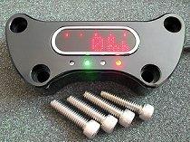 motogadget msm HD Handle Bar Top Clamp 1´, negro