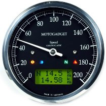 motogadget Chronoclassic speedo, green LCD, black ring
