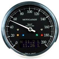 motogadget Chronoclassic 10 black LCD, polished ring