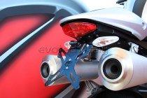 Evotech License plate holder, black - Ducati 1100 Monster EVO