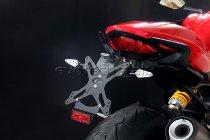 Evotech License plate holder, black - Ducati 821 / 1200 Monster / S / Dark / Stripe