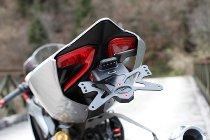 Evotech License plate hoder, black - Ducati 899 / 1199 / 1299 Panigale / R / S / Tricolore